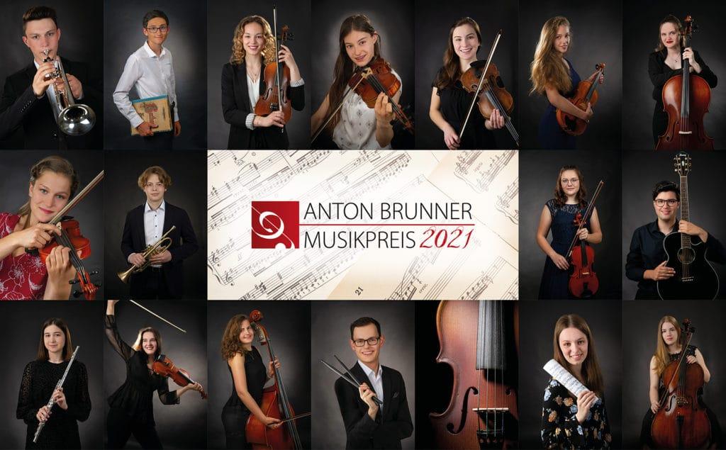 Foto-Collage der Preisträger des ANton-Brunner-Musikpreises 2021 der Stadt Deggendorf