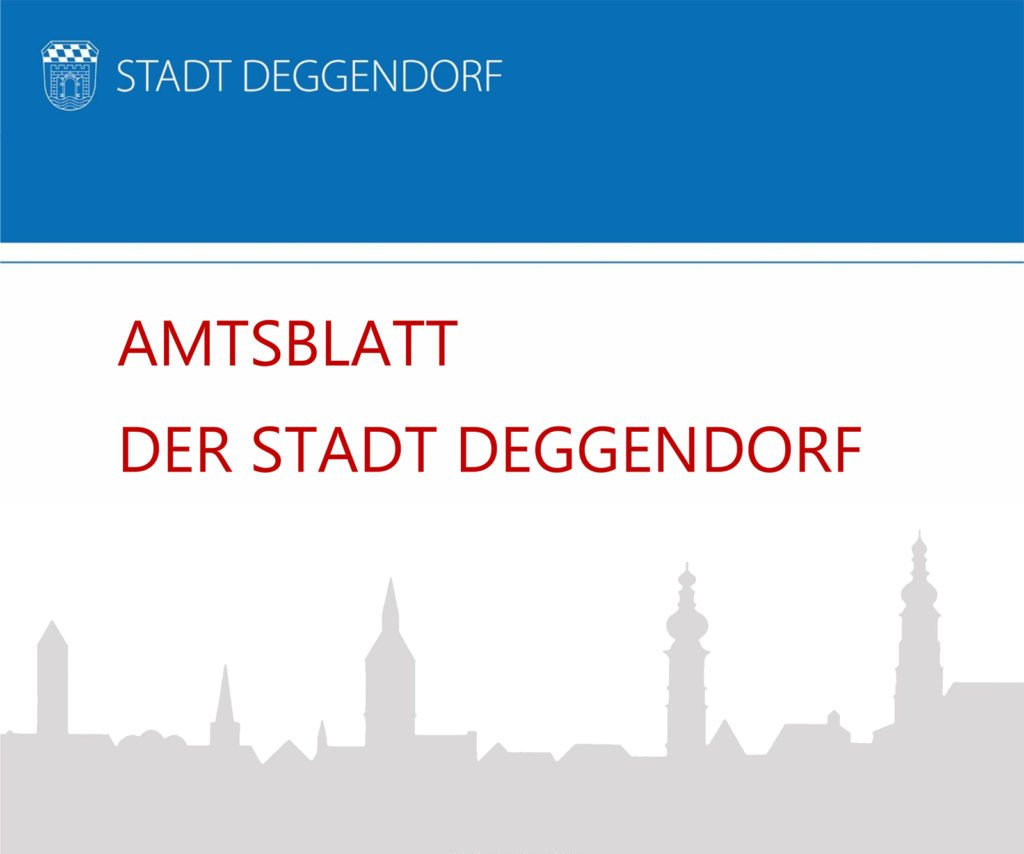 Titelbild eines Amtsblatt der Stadt Deggendorf