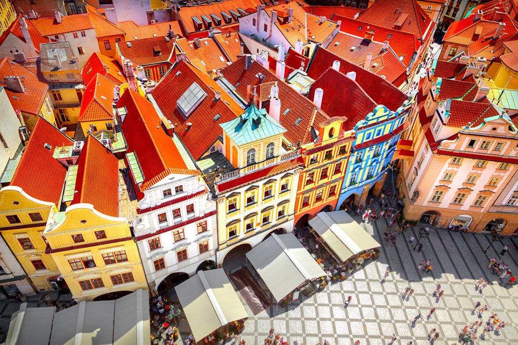 Sicht auf den Marktplatz von Prag