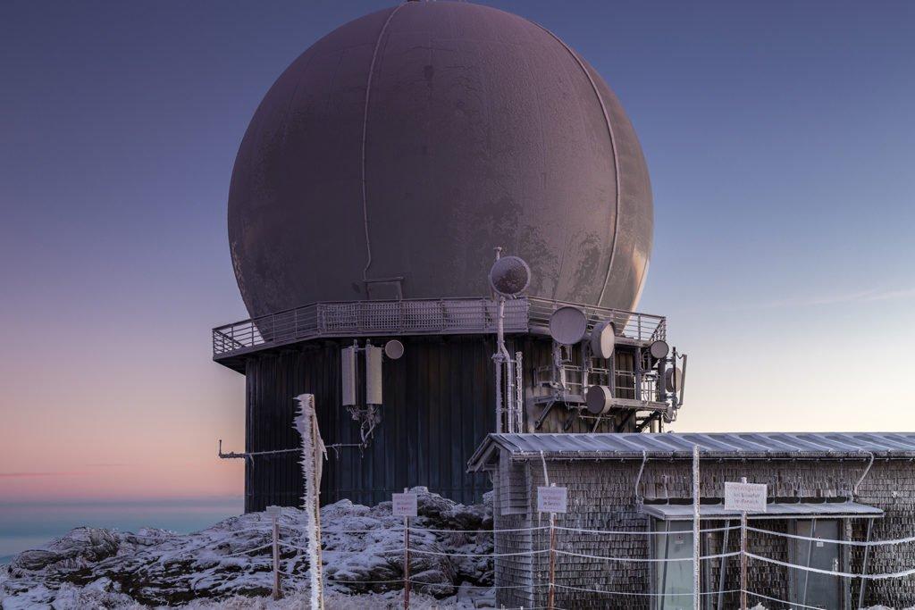 Radar-Kuppel des Abgesetzten technischen Zug 358 am Großen Arber