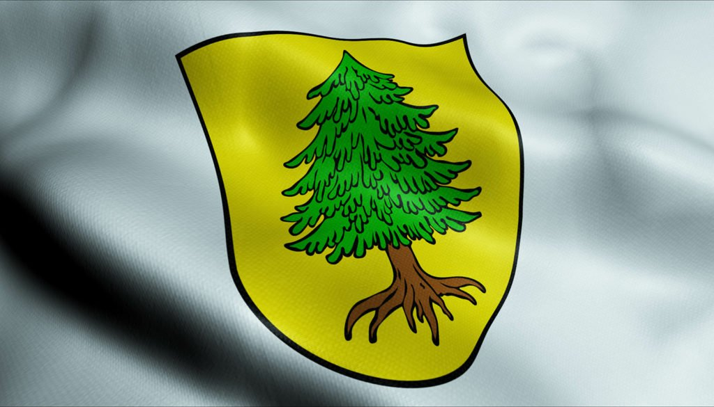 Das Wappen der Stadt Viechtach in Niederbayern