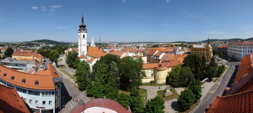 Panoramabild von der Stadt Pisek