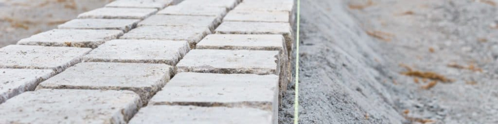Straßen- und Pflasterarbeiten des Tiefbauamts