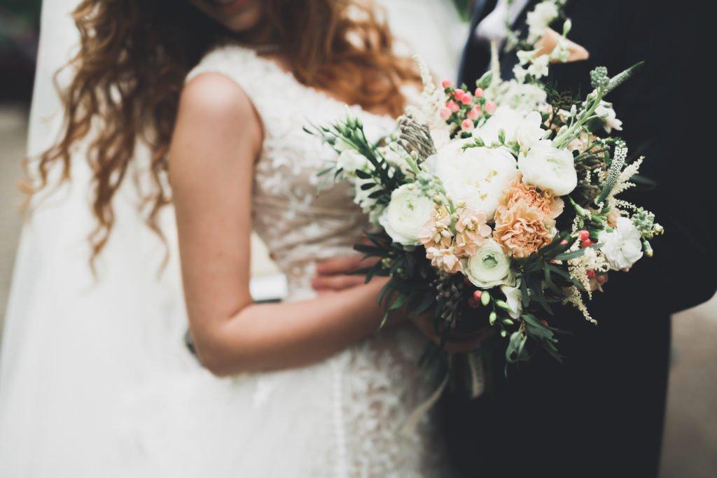 Frisch vermähltes Hochzeitspaar