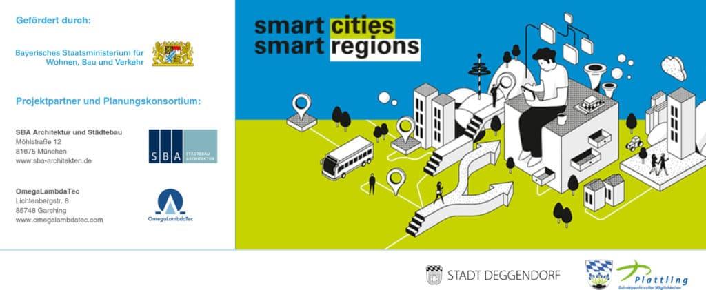 Smart cities - smart regions Plakat mit den Förderungen des Modellprojekts